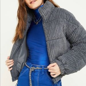 Urban Outfitters fluffy corduroy coat